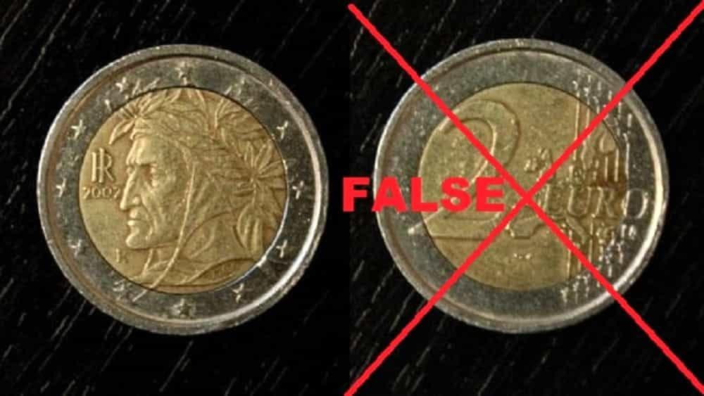 Occhio alla truffa! In circolazione monete da due euro false
