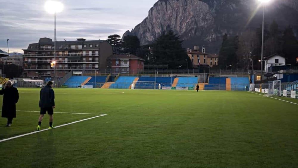 Foto calcio lecco cambiate le luci allo stadio