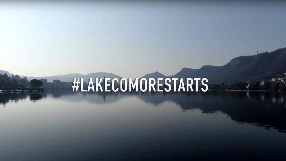 #LakeComoRestarts: un video tricolore per annunciare la ripartenza del brand